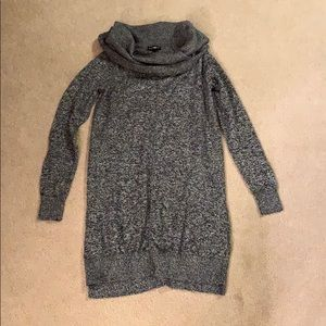 NWOT Express marled grey long cowl neck sweater XS